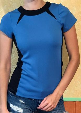 Синяя  футболка mohito. акция*читайте в описании*