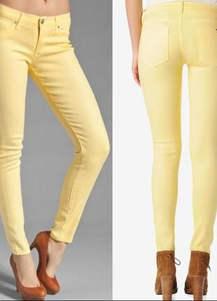 Лимонные супер скини hudson jeans