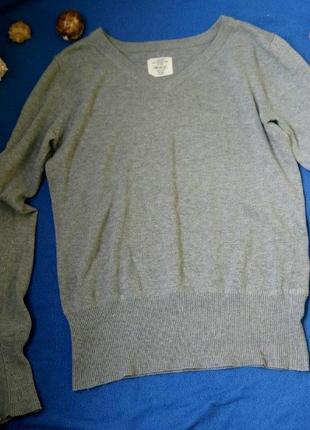 Тёплый серый джемпер свитер