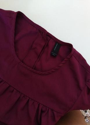 Красивое платье, туника цвета марсала