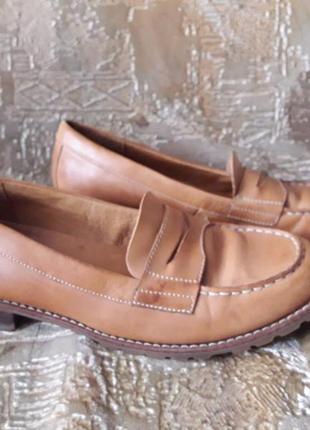 Кожаные туфли timberland 41 р, 27 см