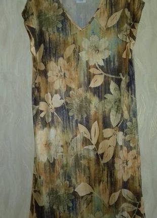 Платье летнее в цветы на пышные формы
