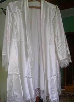 Комплект халат з пеньюаром для ранку нареченої