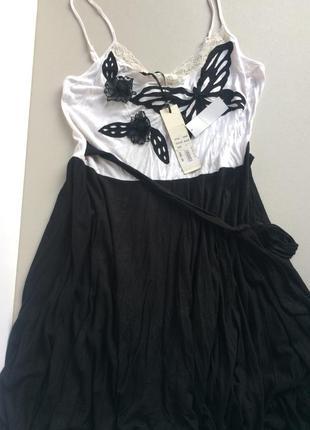 Платье сарафан миди бабочки