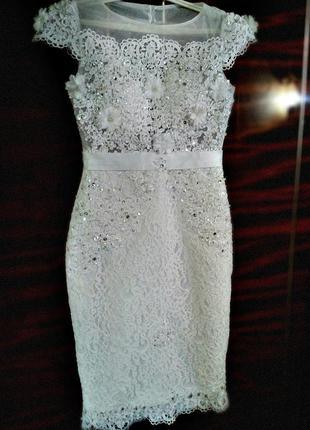 Красивое платье на выпускной/ выпускное платье/ свадебное платье