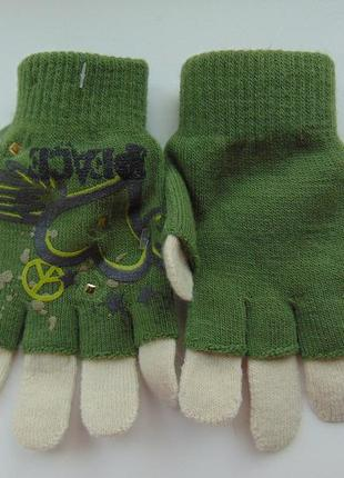 Перчатки митенки для девочки