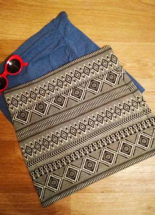 Мини юбка юбочка с орнаментом