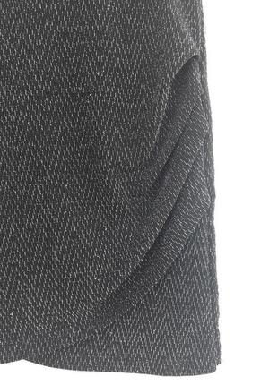 Стильная юбка с люрексом сборка сбоку спідниця4 фото