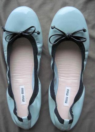 Miumiu (37) кожаные балетки