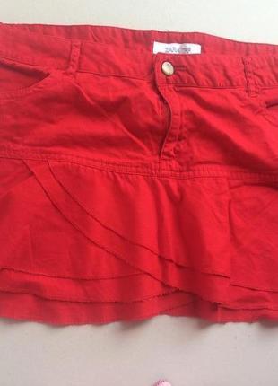Котоновая  мини юбка zara