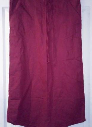 Новая льняная юбка спортивного стиля. италия. с-м