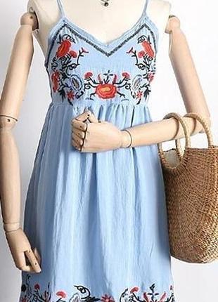 5da08fdee96 ... Сарафаны с вышивкой в наличии цвета очень легкие лен платье летнее3