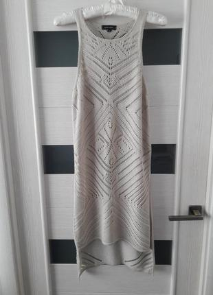 Вязаная туника майка блуза от new look удлиненная