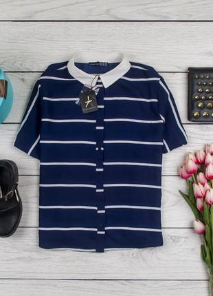 Блуза в полоску от atm размер uk 16 наш р. 50