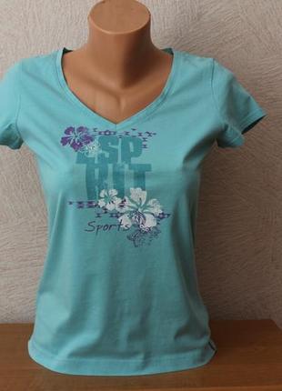Esprit sport- брендовая футболка, тонкий трикотаж, германия- оригинал