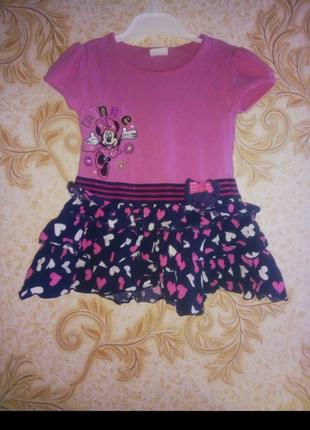 Платье с мини маус для маленькой принцессы