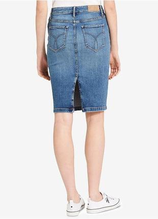 Шикарная джинсовая юбка карандаш g-star raw оригинал