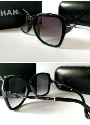 Женские большие квадратные очки черные солнцезащитные оверсайз новинка 2018
