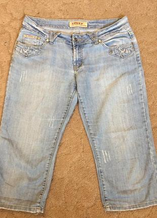 Бриджи жен джинсовые m(46)