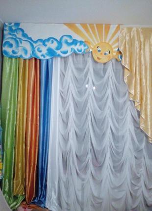 Детский ламбрикен и штора продажа - обмен