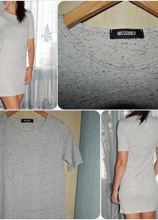 52a2ea7120487 Платье футболка Missguided 2019 - купить недорого вещи в интернет ...