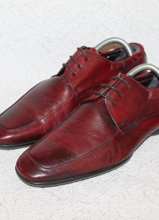 Paul smith кожаные туфли с мягким задником на резинке 42 размер 27,5 см стелька
