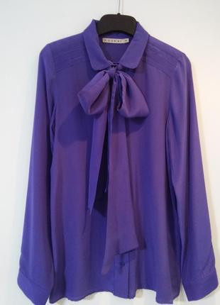 Шелковая рубашка/блуза с бантом