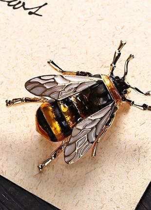 Брошь пчела эмаль ღღღ