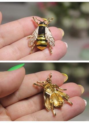 Брошь пчела эмаль ღღღ3 фото
