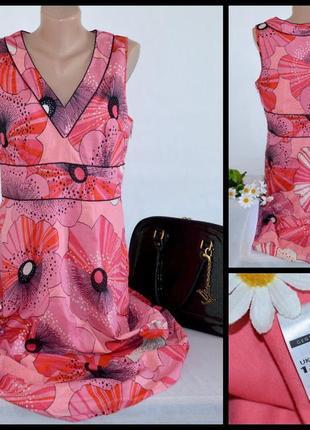 Брендовое макси платье george коттон цветы