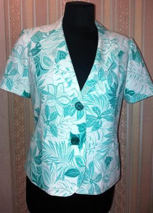 Пиджак с коротким рукавом, принт цветы, ewm