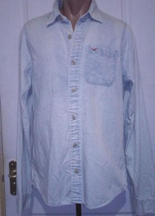 Джинсовая рубашка холистер.