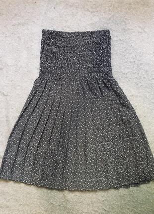 Платье на резинке, платье бюстье, плиссировка хs-m