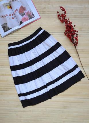 Плиссированная юбка в полоску h&m