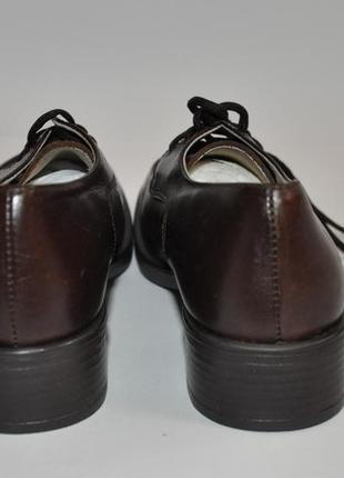 Коричневые детские кожанные туфли италия4