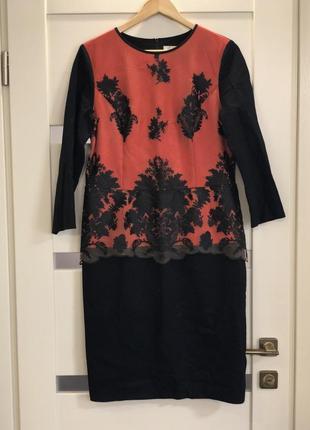Шикарное платье миди с кружевом