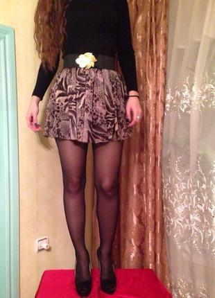 """Шифоновая юбка с поясом резинка тм """"miss selfridge"""""""