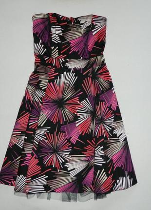 Красивое стильное яркое платье