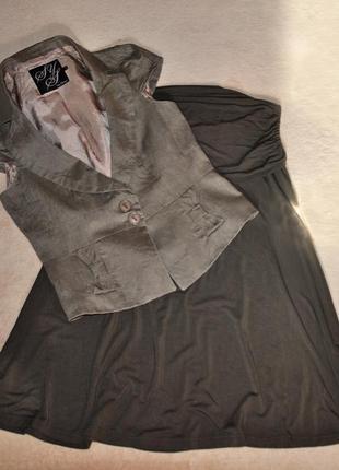 Комплект юбка и пиджак с коротким рукавом