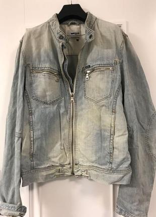 Классная крутая джинсовая куртка деним gas jeans оригинал