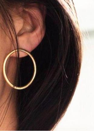 Круглые серьги гвоздики, серьги кольца минимализм