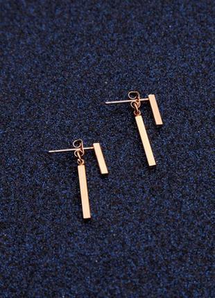 Минималистичные серьги джекеты, золотые