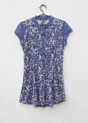 Летняя торикотажна хлопковая блузка