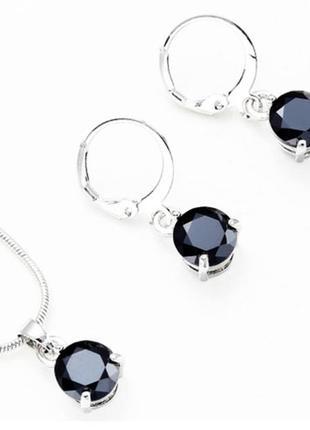 Набор украшений black cristal