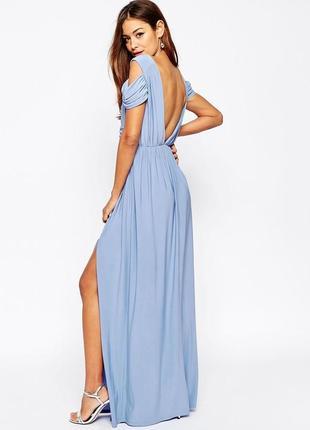 Нежное свадебное платье длинное, вечернее платье макси