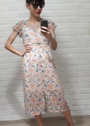 Шикарное полупрозрачное воздушное платье