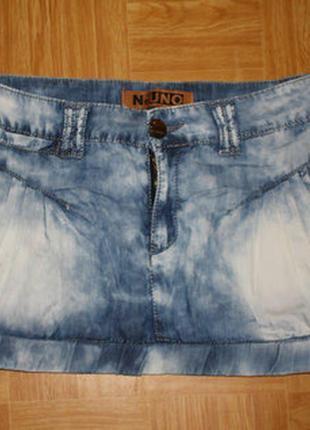 Юбка джинсовая uno, размер 29