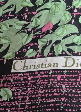 Брендовый оригинальный платок от christian dior/100% шелк/лёгкий4 фото
