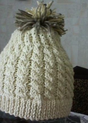 Шапка кашемир и шелк, размер 54-60см
