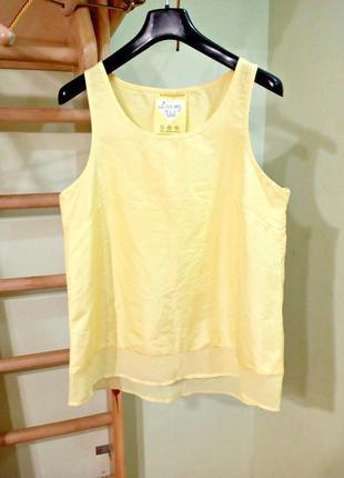 Легкая блуза с шифоновой вставкой 14 atmosphere